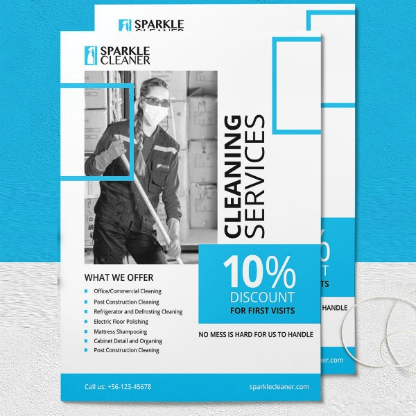 sparkle cleaning services flyer layout