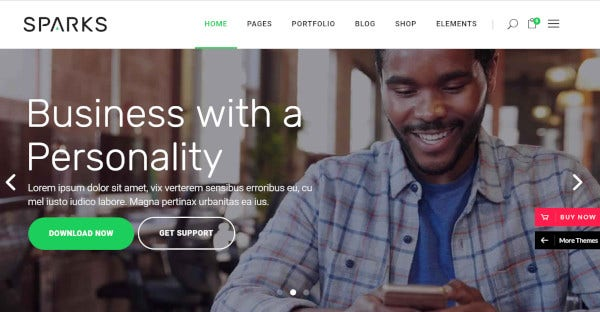 Sparks- Startup WordPress Theme