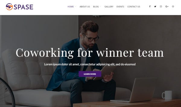 spase business king composer page builder wordpress theme