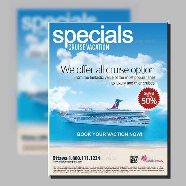Special Cruise Vacation Flyer Sample