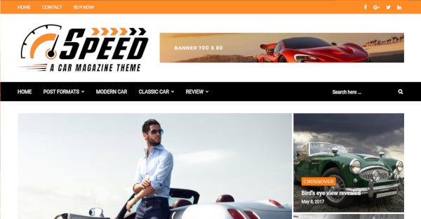 speed car 600 google fonts wordpress theme