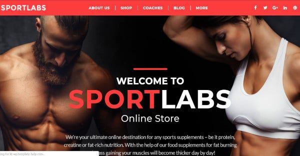 sport labs drag and drops wordpress theme
