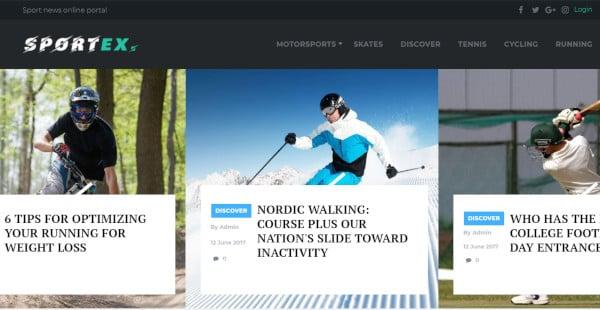sportex – responsive wordpress theme