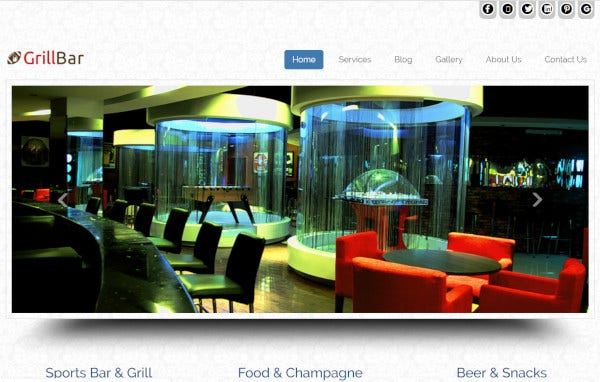 sports bar and grill – responsive wordpress theme