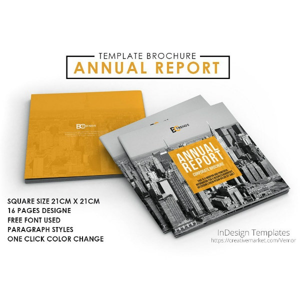 square annual report brochure template