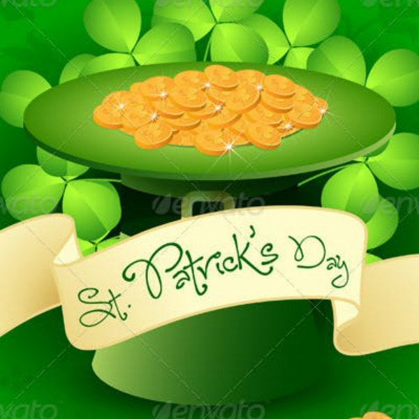 st patricks leprechaun hat card layout