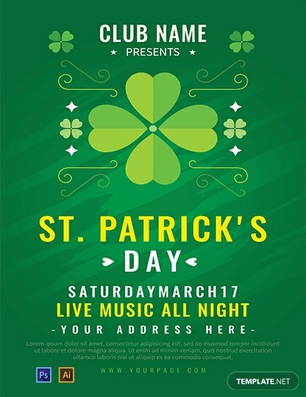 St Patrick's Music Night Poster Sample