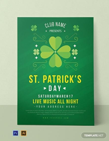 st patricks music party invitation template