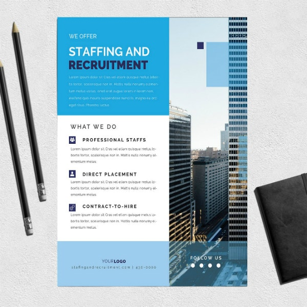 staffing recruitment agency flyer layout