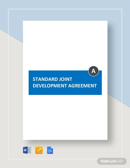 standard joint development agreement template