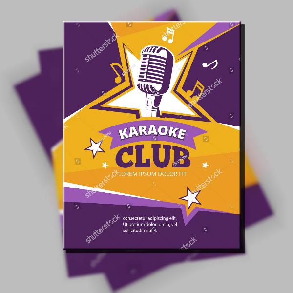 Starry Karaoke Club Poster Layout