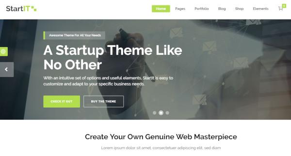 startit – wordpress theme for startups