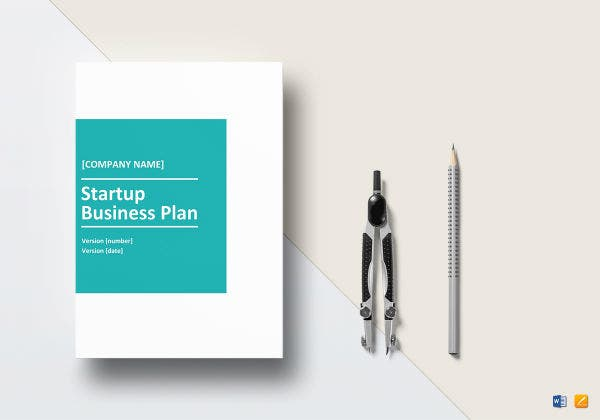 startup business plan template mock up