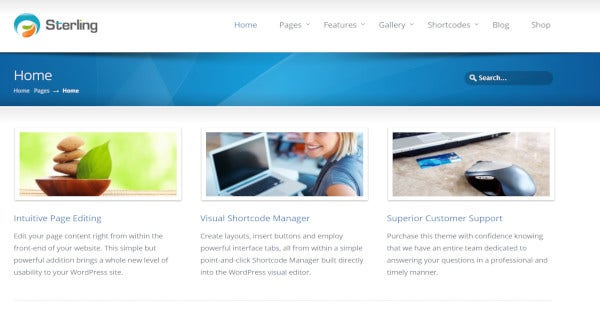Sterling - Premium Plugins Designs WordPress Theme