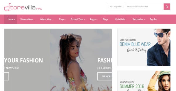 storevilla professional clothing website template