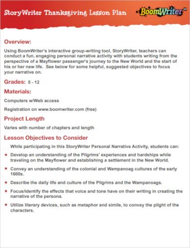 6+ Thanksgiving Lesson Plan Templates - PDF | Free & Premium Templates