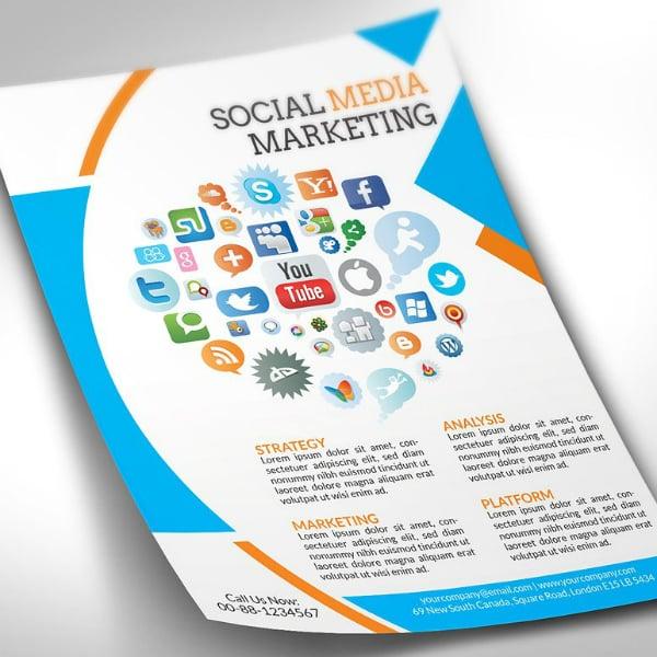Strategic Social Media Flyer Example