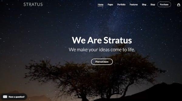 stratus app software saas startup wordpress theme