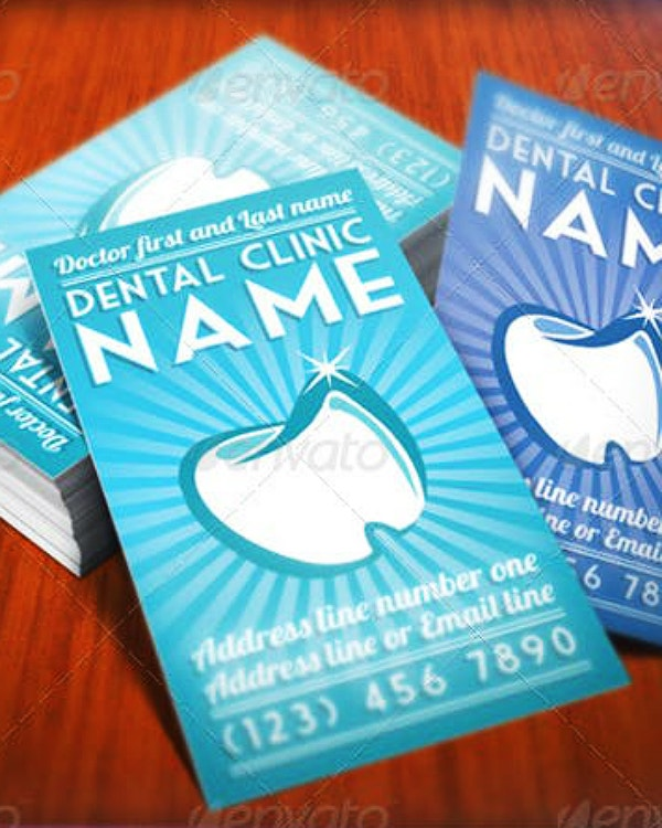 Stylish Dentist Business Card Format