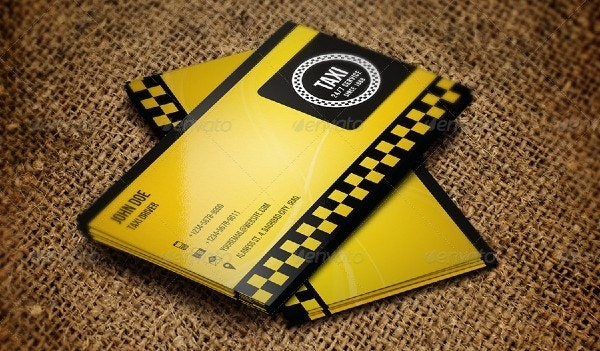 stylish taxi business card template