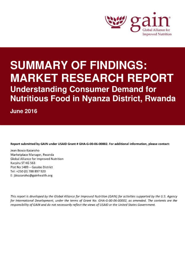 summary of market research report 01