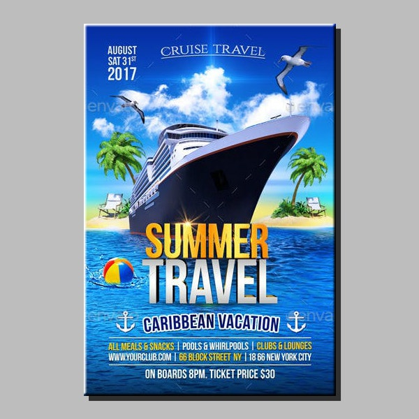 summer travel cruise flyer format