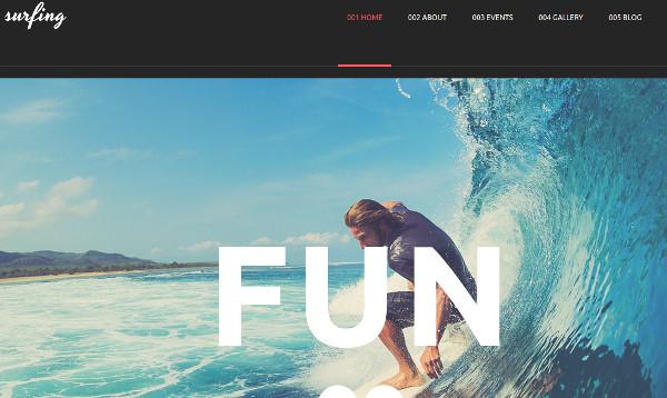 surfing club search engine friendly wordpress theme