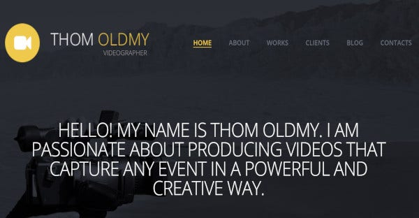 THOM OLDMY - Parallax WordPress Theme