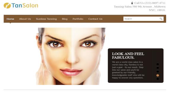 tan salon – beauty spa and tanning salon wordpress theme