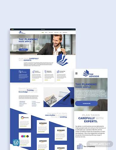 tax advisor wordpress theme template