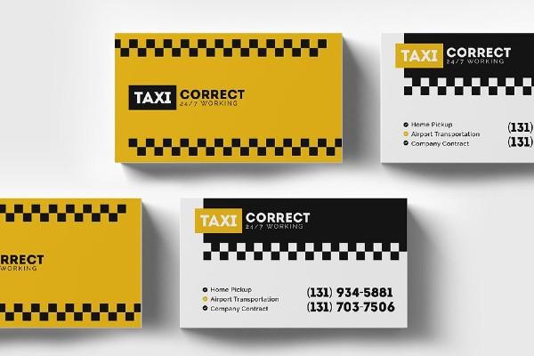 tax business card template