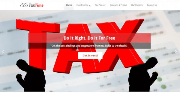 tax time wordpress theme for tax preparation