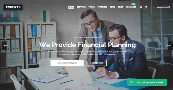 taxadvisor financial help wordpress theme