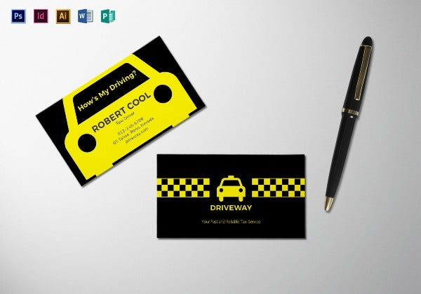 taxi business card mock up