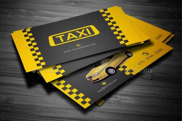 taxi business card preview