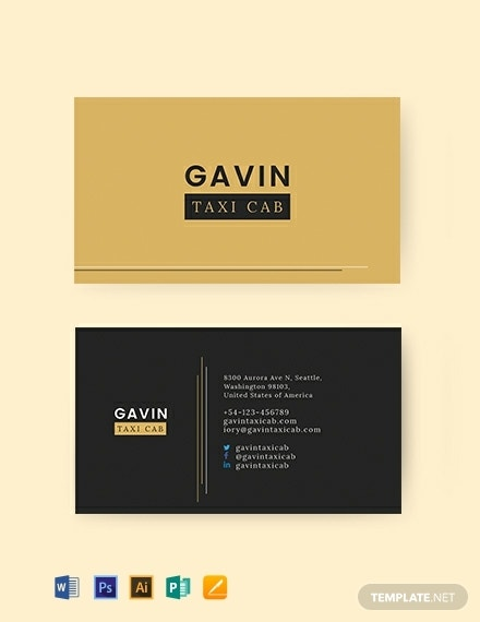 taxi cab business card template 440x570 1