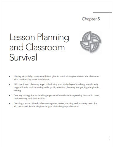 teacher lesson planning and classroom survival