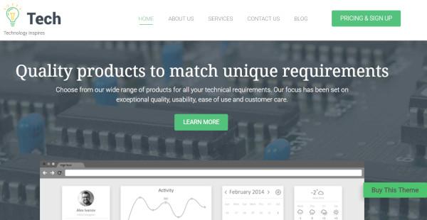 tech – responsive tech wordpress theme