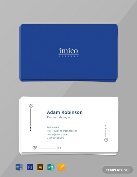 tech minimal business card template
