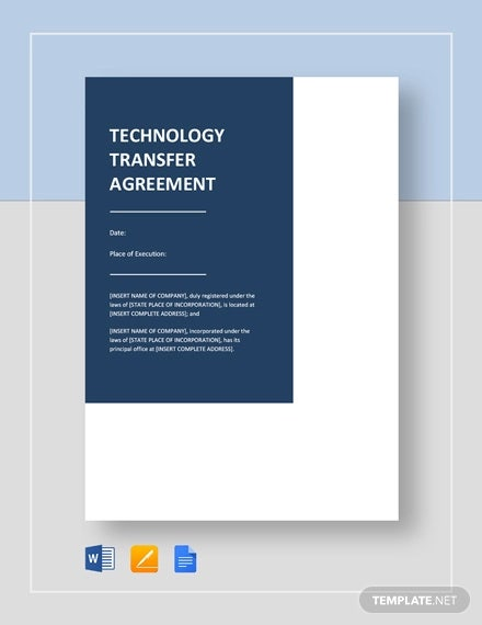 technology transfer agreement template