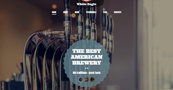 the best american brewery fully responsive wordpress theme