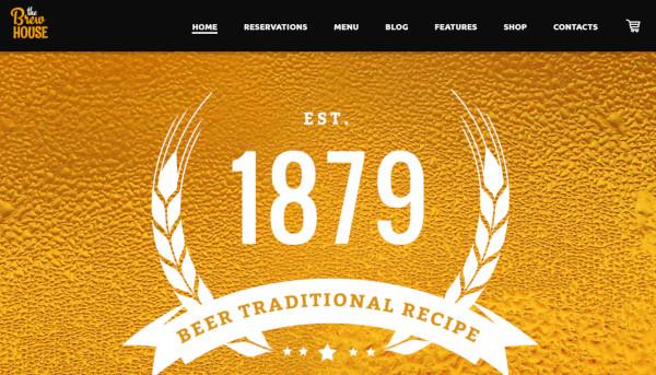 the brew house – mobile friendly wordpress theme