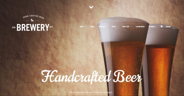 The Brewery HTML WordPress Theme
