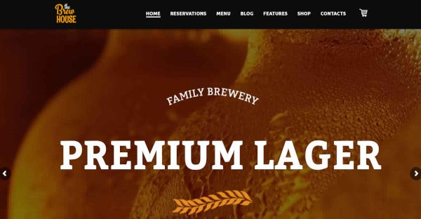 the brewhouse contemporary wordpress theme