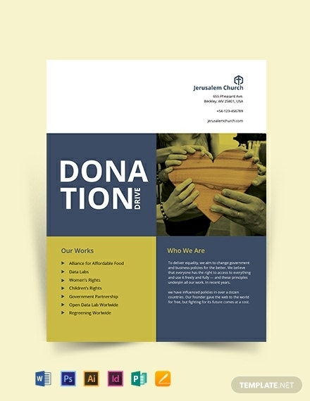 tiled church donation flyer sample