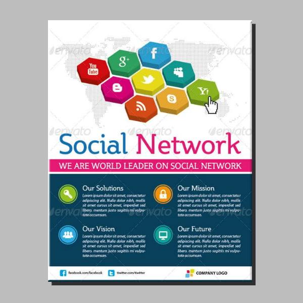 tiled social media marketing flyer