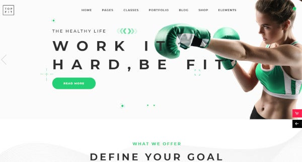 topfit parallax wordpress theme