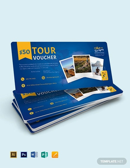 tour voucher template