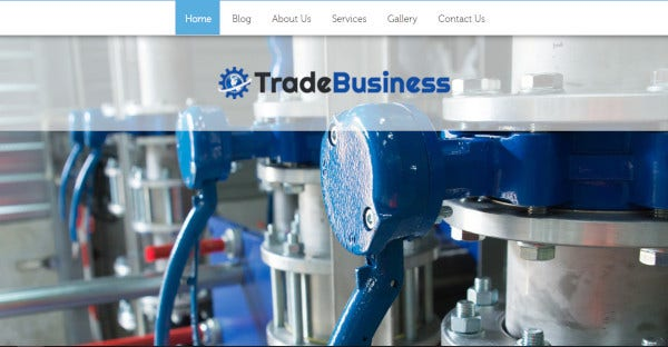 Trade Business - Responsive WordPress Theme