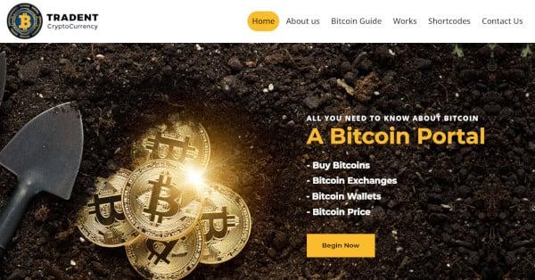 tradent cryptocurreny drag and drop wordpress theme